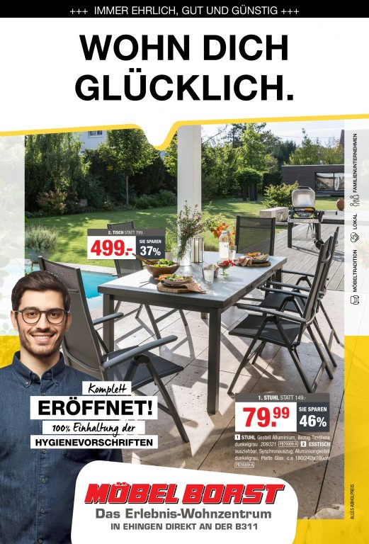 Wohn dich glücklich - mit den aktuellen Angeboten von Möbel Borst!